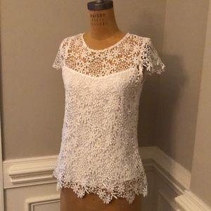 Villa Milano white lace shirt and camisole